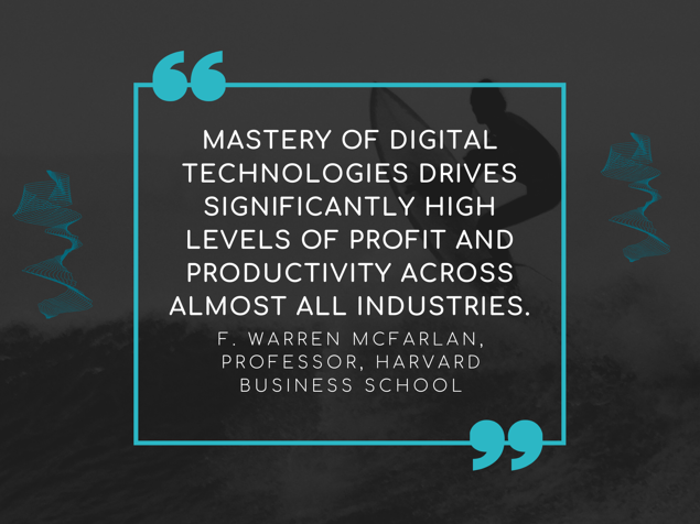 When mastering digital technologies, companies are able to increase their profit and productivity.